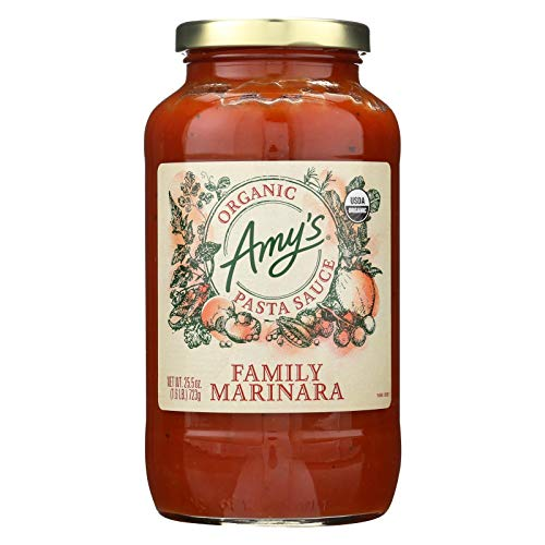 AMY'S, Pst Sce, Og2, Family Marnra, Pack of 6, Size 25.5 OZ, (Gluten Free Vegan Yeast Free 95%+ Organic)