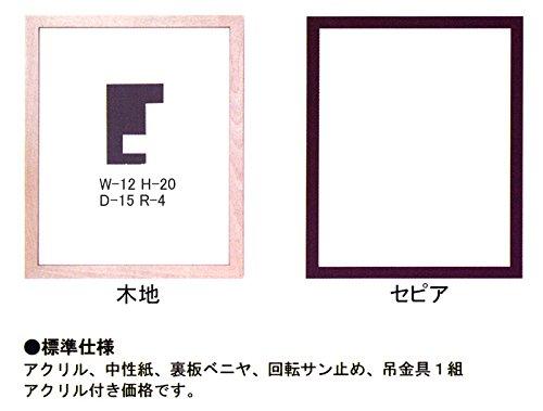 デッサン額:AS302/セピア色/半切サイズ【マット付き】8号相当サイズのポスターに最適サイズ! B00RA01R4Q