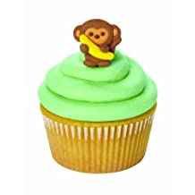 Wilton 710-6671 Monkey Royal Icing Decorations, 12 Count