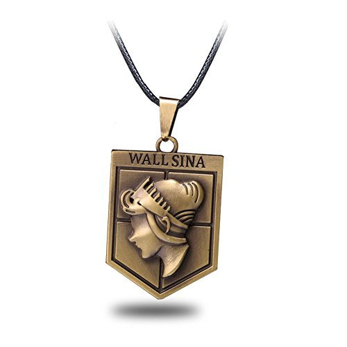CG Costume Attack on Titan Necklace Wall Sina Alloy Cosplay Costume