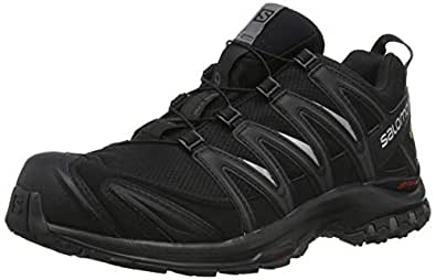 Salomon Men's XA Pro 3D Gore-Tex Trail Running Shoe, Black/Black/Magnet, 8 US