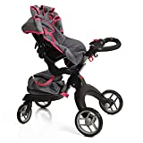 Mommy & Me Socutie Doll Stroller with Swiveling Wheels & Adjustable Handle. 31' Tall, Carriage Bag Included