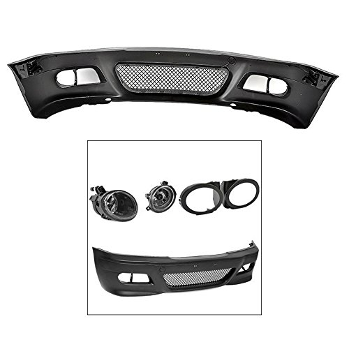 E46 M3 Conversion Style Front Bumper Fog Crystal Light Cover 3-Series 4DR 99-05 ()