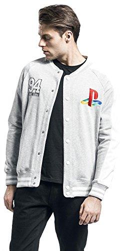 Playstation College S Grigio Logo Giacca Chiaro Classic grigio TrtPqTw