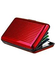 محفظة كروت ائتمانية لون احمر