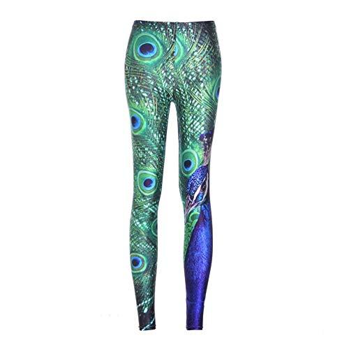Flower Bolawoo Festa Green Elasticizzati Donna 1 Matita Stretch A Leggings Style Printed Da Pantaloni Running Sportivi StwrXSqF