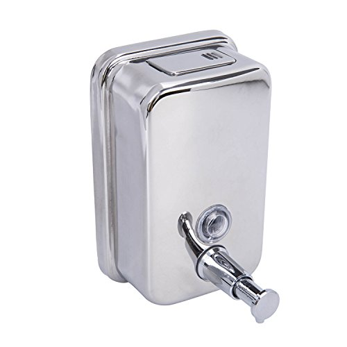Lebather Single Bottle Wall Mounted Soap Shampoo Shower Dispenser Pump Box Stainless Steel Chorme,500 ML by Lebather