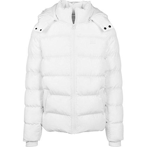 Urban Classics - HOODED PUFFER Winter Jacket white - XXL