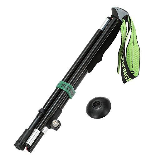 New Arrival Walking Stick Folding Adjustable Telescopic Hiking Trekking Pole with Bastones Senderismo (Black)
