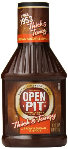 Open Pit Thick & Tangy Barbecue Sauce, Brown Sugar & Spice,
