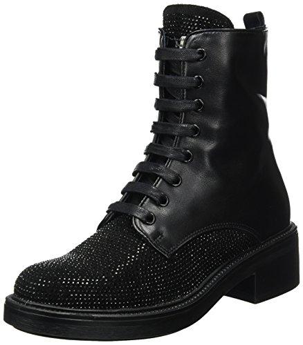 C99 Combat Black Lizzola Tosca Boots Blu nero Women's q7pwWR0f