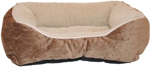 Brinkmann Pet 21-Inch by 25-Inch Box Bed, Brown, My Pet Supplies
