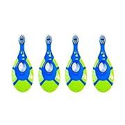 Jordan Step 1 Baby Toothbrush, 0-2 Years, BPA Free, 4 Pack (Blue)