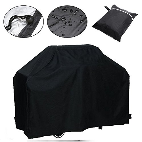 Waterproof BBQ Grill Cover Barbecue Grill Gas Covers Outdoor Indoor Protector (Only Black available) (Barbecue Covers) (Barbecue Covers compare prices)