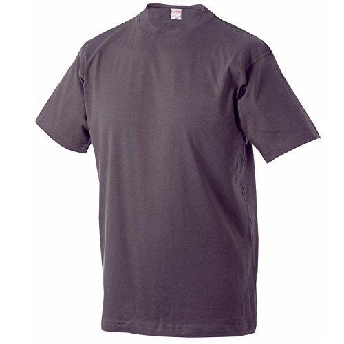 Dunkelgraues T-Shirt im Doppelpack Serie MARLON von ADAMO in großen Größen bis 12XL