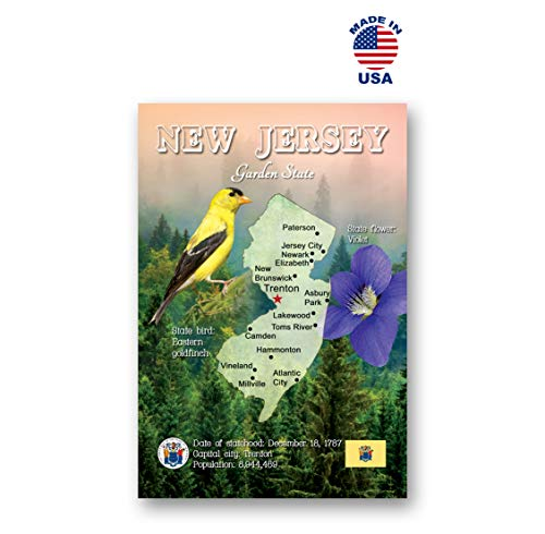 - NEW JERSEY MAP postcard set of 20 identical postcards. NJ state map post cards. Made in USA.