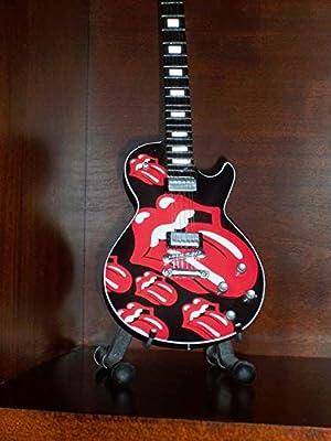 Mini Guitarra Rolling Stones Jagger Richards Figurilla Presente ...