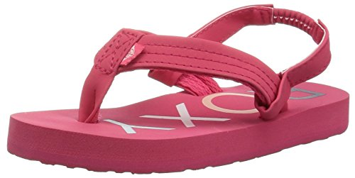 Roxy Baby Girl - Roxy Girls' TW Vista 3 Point Sandal Flip-Flop, Berry, 5 M US Toddler