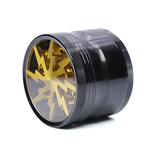 ET-Hone New Style 4 Layers Aluminium Alloy Lightning Herb Grinder-Small & Compact, Easy for Travel