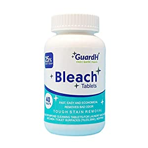 Best Epic Trends 41e4hEti3pL._SS300_ GuardH Bleach Tablets - 40 Count. Bleach for Laundry and Multipurpose Cleaning.