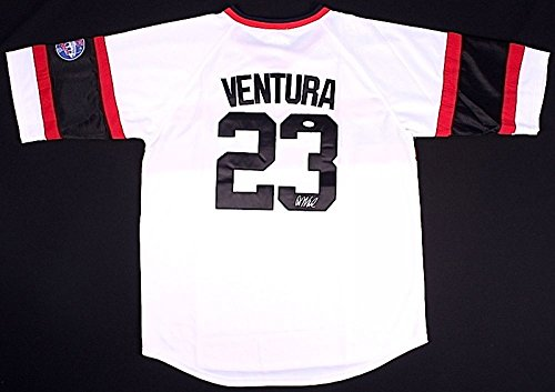 Robin Ventura Autographed Signed Chicago White Sox Throwback Jersey - JSA Certified ()