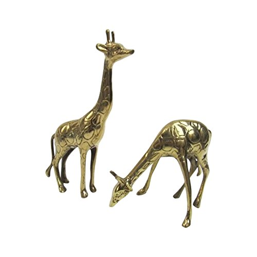 Brass Giraffe - Solid Brass Giraffe Pair - Nautical Decor
