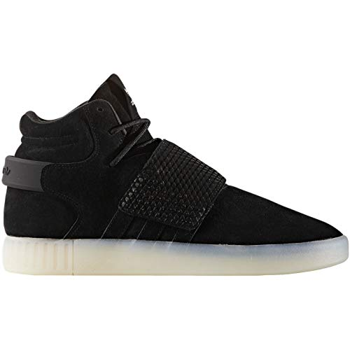 adidas Originals Tubular Invader Strap Mens Hi Top Trainers Sneakers Shoes (UK 11 US 11.5 EU 46, Black White Bb5037)