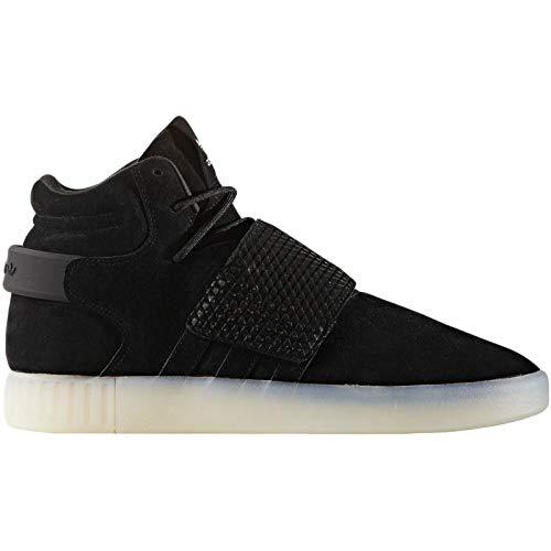 adidas Originals Tubular Invader Strap Mens Hi Top Trainers Sneakers Shoes (US 10, Black White BB5037)