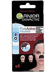 GARNIER, små masker mot pormaskar, Pure Active Charcoal Nose Strips, 4-pack