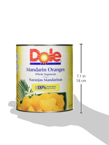 Amazon.com : Dole Mandarin Oranges in 100% Juice, 106 Ounce : Grocery & Gourmet Food
