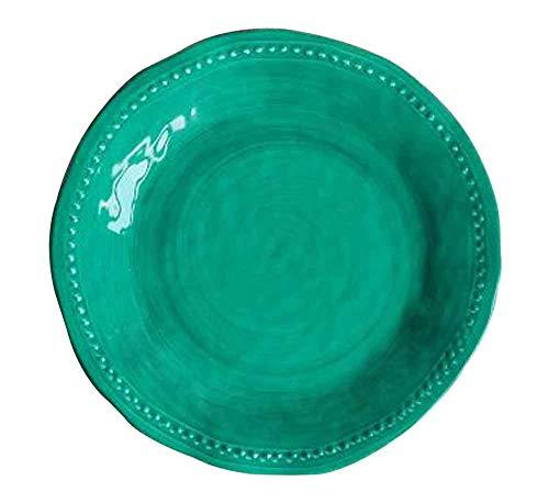 5-Piece Dinner Plate Set Reusable Hard Plastic Party Dinner Plates Color Brush