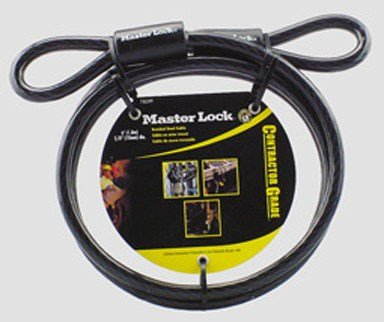 Master Lock 78DPF 3 Pack 6ft. x 3/8in. Looped End Cable, Black by Master Lock