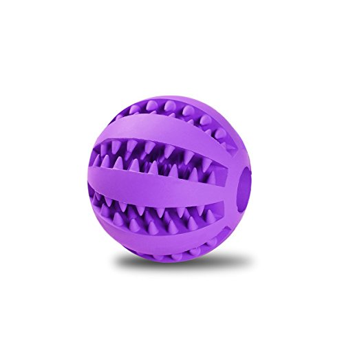 Life Like Gourd - Toy Ball for Dogs [Dental Treat][Bite Resistant] Jakpak Durable Non-Toxic Strong Tooth Cleaning Dog Toy Balls for Pet Training/Playing/Chewing,Soft Rubber,Bouncy,Tennis Ball Size 2.8 Inch