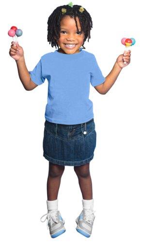 Rabbit Skins Little Boy's Shoulder Tape Bottom Hem T-Shirt, Carolina Blue, 4