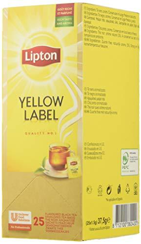Lipton Te Negro Yellow Label - 6 cajas de 25 sobres