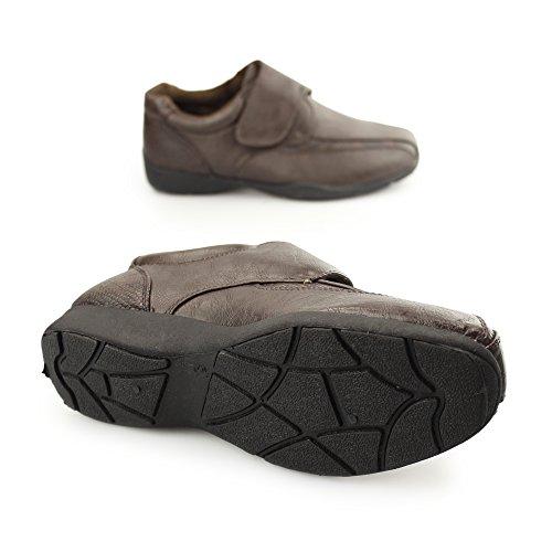 Dr Keller Marie Damas CIERRE ADHESIVO Forro Cálido zapatos marrones Marrón