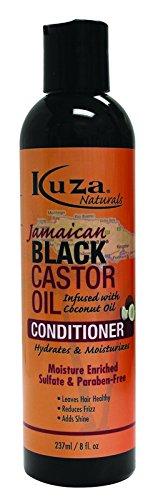 Kuza Naturals Jamaican Castor Oil Conditioner, 8 oz, Black by Kuza