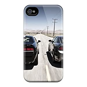 OEr3303RYOu Case Cover, Fashionable For Apple Iphone 4/4S Case Cover - Two Dodge Car Belonging On The Road