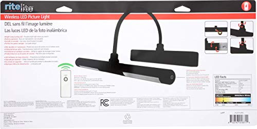 Rite Lite LPL601XLBRC Battery Operated LED Picture Light, Black by Rite Lite (Image #9)