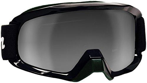Typhoon Motocross Offroad ATV Dirt Bike MX Goggles , Black w/ Silver & Clear - Typhoon Eyewear