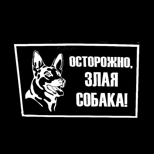 20cm Caution Evil Dog on Board car Sticker and Decals Funny car Stickers Motorcycle Decals EY-008 DONYUMMYJO 13.31 Color Name:, Size: 4 PCS