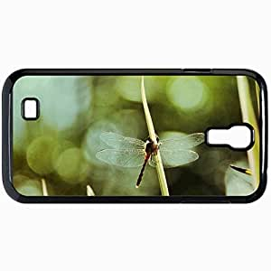 Fashion Unique Design Protective Cellphone Back Cover Case For Samsung GalaxyS4 Case Dragonfly Black