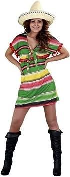 Disfraz de Mejicana con vestido corto para mujer: Amazon.es ...