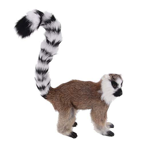 Animal Monkey Lemur - Flameer Lifelike Lemur Monkey Animal Model Figurine Kids Toy Yard Tree Garden Decoration - 32 x 22 x 7cm