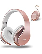 zihnic Bluetooth Over-Ear Headphones, Foldable Wireless and Wired Stereo Headset Micro SD/TF, FM for Cell Phone,PC,Soft Earmuffs &Light Weight for Prolonged Waring