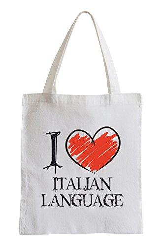 I love Italian Language Fun Jutebeutel