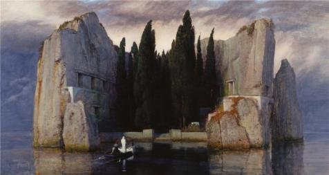 [Oil Painting 'Arnold Bocklin - Isle Of The Dead,1880', 16 x 30 inch / 41 x 76 cm , on High Definition HD canvas prints is for Gifts And Game Room, Gym And Home Office Decoration,] (Homme Costume National)