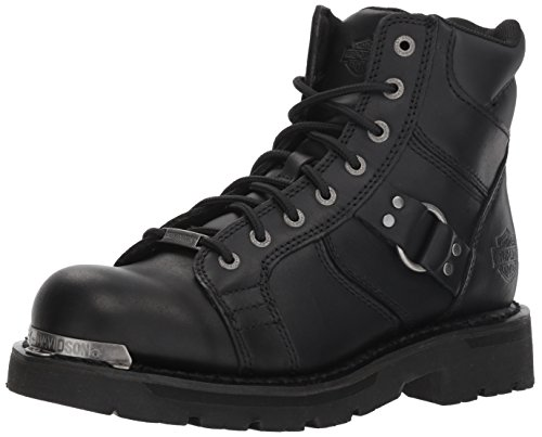 Womens Leather Motorcycle Riding Boots - 5