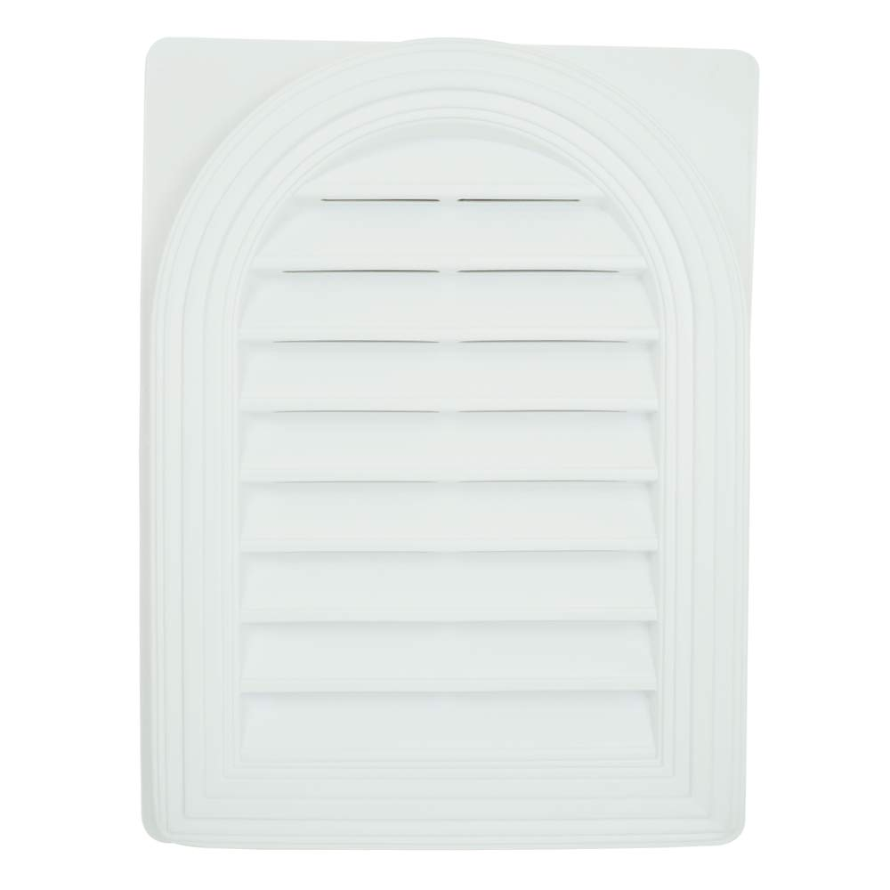 Suntown 22 x 17 Round Top Functional Gable Vent with Screen - White - One Piece Construction