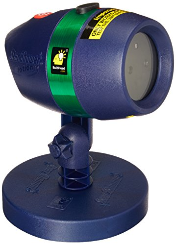 Star Shower Motion Laser Light by BulbHead - Indoor Outdoor Laser Light for Hassle-Free Holiday Decorating - Sparking or Still Red and Green Laser Lights Cover up to 3200 Square Feet